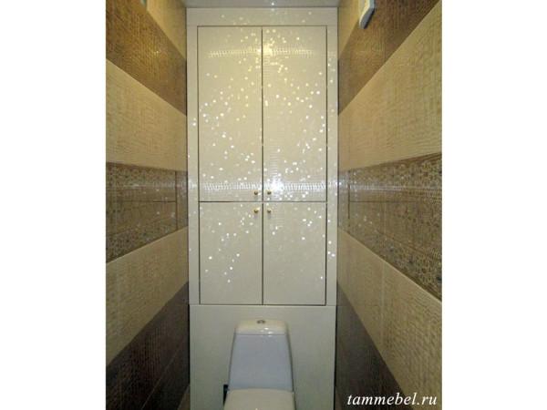 Шкафчик в туалет с фасадами МДФ.