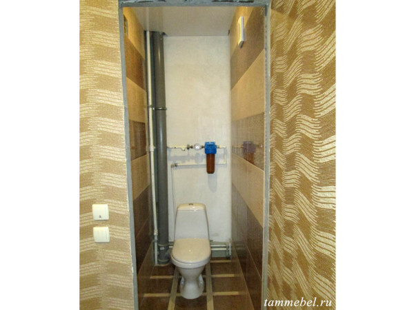 Шкафчик в туалет - фото до установки.