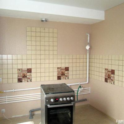 Кухня до установки мебели.